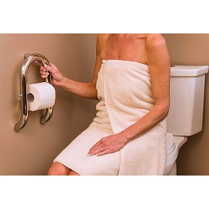 Toilet Roll Holder with Invisia Grab Bar