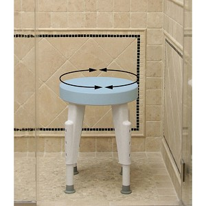 Rotating Round Shower Stool