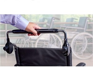 Wheelchair Security Push Bar