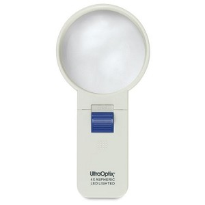 UltraOptix LED Lighted Round 4X Magnifier