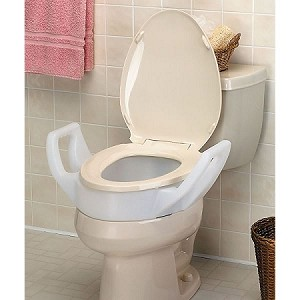 Bath Safe Raised Toilet Seat with Arms